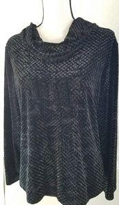 Black velour top